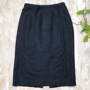 {Dolce & Gabbana} Black Textured Pencil Skirt Work